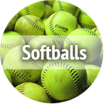 used softballs