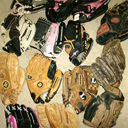 Used Baseball Gloves Lot